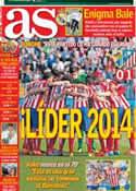 Portada diario AS del 5 de Enero de 2014