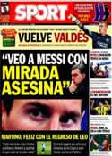 Portada diario Sport del 5 de Enero de 2014