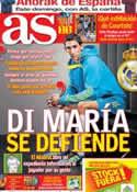 Portada diario AS del 8 de Enero de 2014