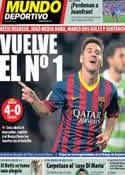 Portada Mundo Deportivo del 9 de Enero de 2014