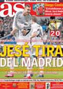 Portada diario AS del 10 de Enero de 2014