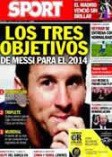 Portada diario Sport del 10 de Enero de 2014
