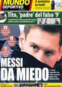Portada Mundo Deportivo del 10 de Enero de 2014
