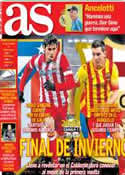 Portada diario AS del 11 de Enero de 2014