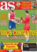 Portada diario AS del 12 de Enero de 2014