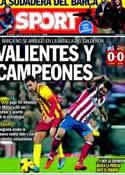 Portada diario Sport del 12 de Enero de 2014