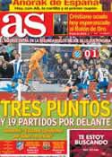 Portada diario AS del 13 de Enero de 2014