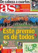 Portada diario AS del 15 de Enero de 2014