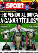Portada diario Sport del 15 de Enero de 2014