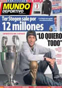 Portada Mundo Deportivo del 15 de Enero de 2014