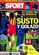 Portada diario Sport del 17 de Enero de 2014