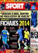 Portada diario Sport del 18 de Enero de 2014