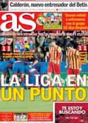 Portada diario AS del 20 de Enero de 2014