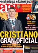 Portada diario AS del 21 de Enero de 2014