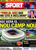 Portada diario Sport del 21 de Enero de 2014