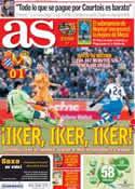 Portada diario AS del 22 de Enero de 2014