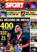 Portada diario Sport del 22 de Enero de 2014