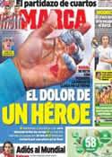 Portada diario Marca del 23 de Enero de 2014