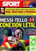 Portada diario Sport del 23 de Enero de 2014
