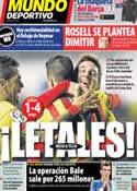 Portada Mundo Deportivo del 23 de Enero de 2014