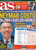 Portada diario AS del 25 de Enero de 2014