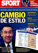 Portada diario Sport del 25 de Enero de 2014