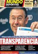 Portada Mundo Deportivo del 25 de Enero de 2014