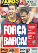 Portada Mundo Deportivo del 26 de Enero de 2014