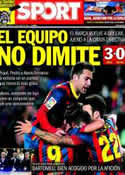 Portada diario Sport del 27 de Enero de 2014