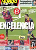 Portada Mundo Deportivo del 27 de Enero de 2014
