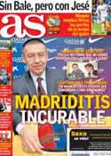 Portada diario AS del 28 de Enero de 2014