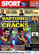 Portada diario Sport del 28 de Enero de 2014