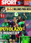 Portada diario Sport del 30 de Enero de 2014