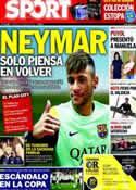 Portada diario Sport del 31 de Enero de 2014