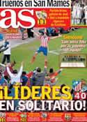 Portada diario AS del 3 de Febrero de 2014