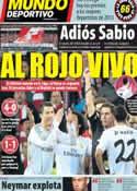 Portada Mundo Deportivo del 3 de Febrero de 2014