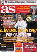 Portada diario AS del 4 de Febrero de 2014