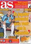 Portada diario AS del 7 de Febrero de 2014