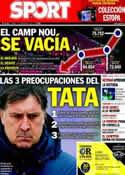 Portada diario Sport del 7 de Febrero de 2014