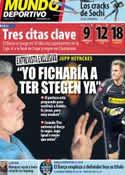 Portada Mundo Deportivo del 7 de Febrero de 2014