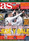 Portada diario AS del 8 de Febrero de 2014