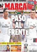 Portada diario Marca del 8 de Febrero de 2014