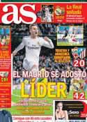 Portada diario AS del 9 de Febrero de 2014