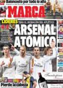 Portada diario Marca del 9 de Febrero de 2014