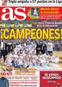 Portada diario AS del 10 de Febrero de 2014