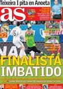 Portada diario AS del 12 de Febrero de 2014