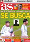 Portada diario AS del 13 de Febrero de 2014