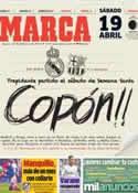 Portada diario Marca del 13 de Febrero de 2014