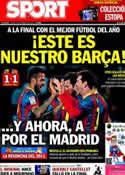 Portada diario Sport del 13 de Febrero de 2014