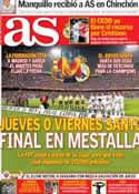 Portada diario AS del 14 de Febrero de 2014